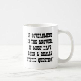 政府答えの実際に愚かな質問 コーヒーマグカップ