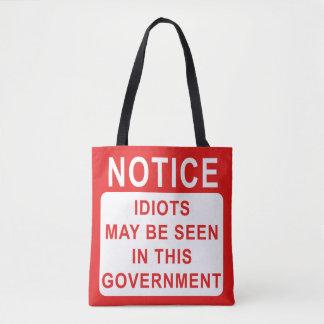 政府袋のおもしろいな馬鹿 トートバッグ