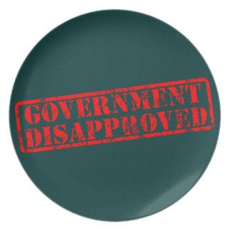 政府非難される プレート