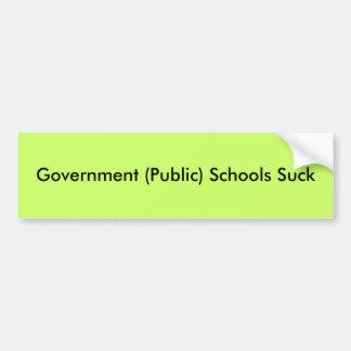 政府(公衆)の学校は吸います バンパーステッカー