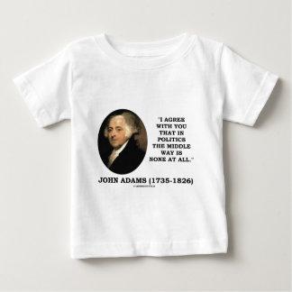 政治の中庸のジョン・アダムズは皆無です ベビーTシャツ