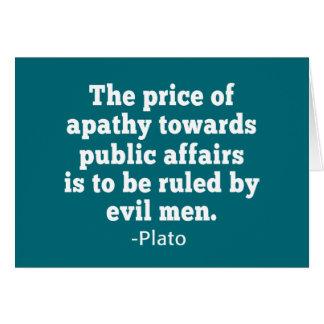 政治の方の無感動のプラトンの引用文 カード
