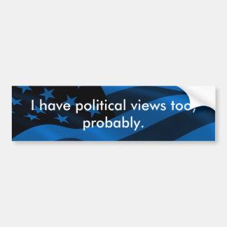 政治は伝染性です バンパーステッカー