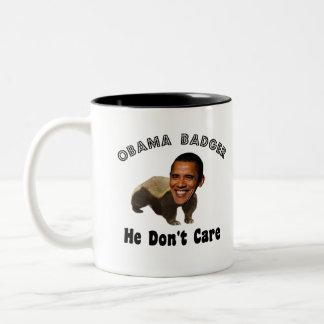 政治オバマのアナグマオバマ ツートーンマグカップ