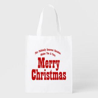 政治キリスト教のメリークリスマスのバッグ エコバッグ