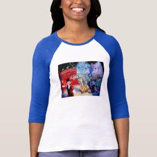 政治サーカス2016の女性のTシャツの青 Tシャツ