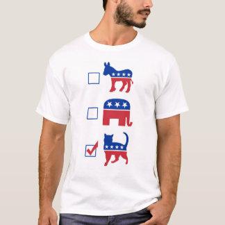 政治ペット投票猫 Tシャツ