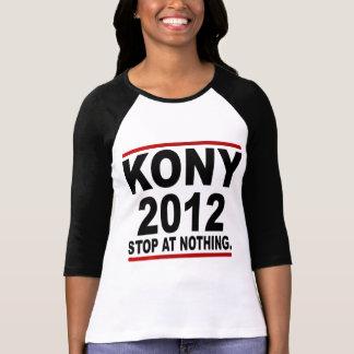 政治停止ヨセフKony 2012年の何もの停止 Tシャツ