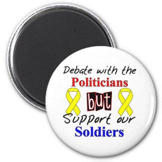 政治家との討論はしかし私達のSoldieを支えます マグネット