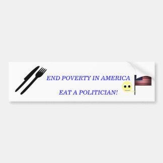 政治家を食べて下さい バンパーステッカー