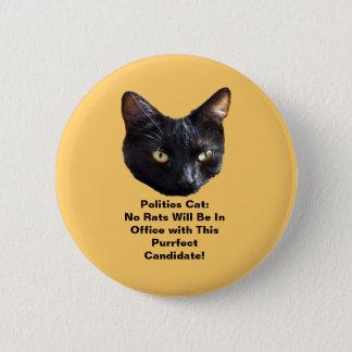 政治猫はオフィスの円形ボタンにラットありません 5.7CM 丸型バッジ