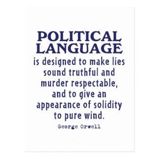 政治言語のOrwell ポストカード