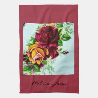 故国のバラ キッチンタオル
