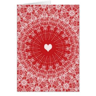 敏感で目まぐるしいバレンタインのテンプレート カード