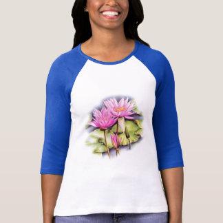 敏感で色彩の鮮やかなスイレン(はす)のTシャツ Tシャツ