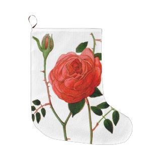 敏感で赤いバラ ラージクリスマスストッキング