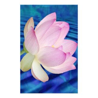 敏感なはすの花および意味 便箋