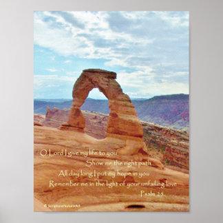 敏感なアーチ、アーチの国立公園、賛美歌25 ポスター