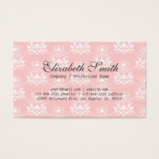 敏感なダマスク織のピンクのレースの名刺 名刺
