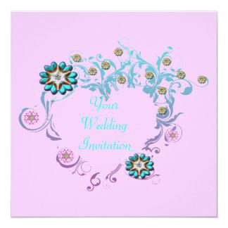 敏感なハートの結婚式招待状 カード
