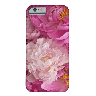 敏感なピンクのシャクヤク女の子らしいIの電話6箱 BARELY THERE iPhone 6 ケース