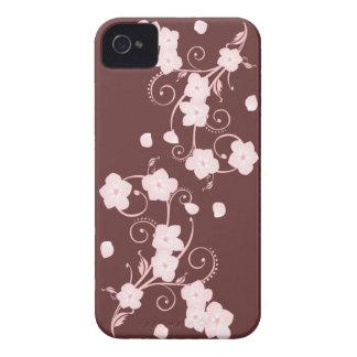 敏感なピンクの桜の渦巻 Case-Mate iPhone 4 ケース