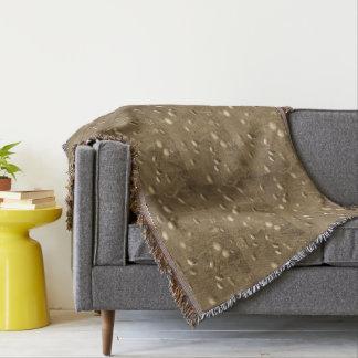 敏感なモノクロ野生花 毛布