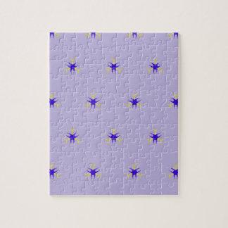 敏感なラベンダーの紫色の破烈パターン ジグソーパズル