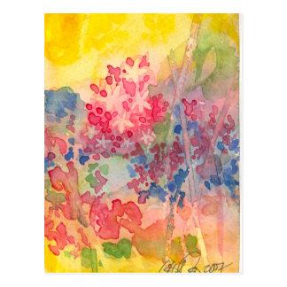 敏感な春の花 ポストカード