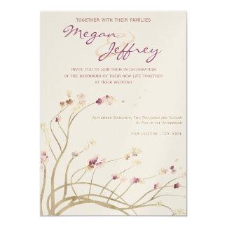 敏感な桜の結婚式招待状 カード