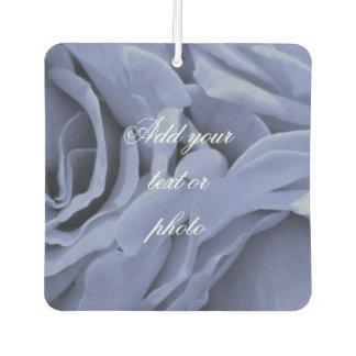 敏感な淡いブルーの灰色のバラの花の写真 カーエアーフレッシュナー
