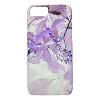 敏感な紫色のつる植物の葉および果実 iPhone 8/7ケース