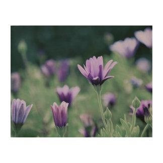 敏感な紫色の花 ウッドウォールアート