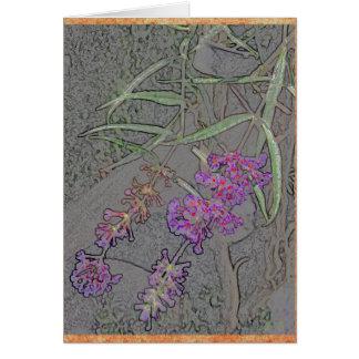 敏感な紫色の花 カード