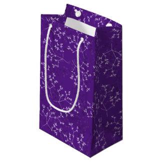 敏感な紫色はギフトバッグ分岐します スモールペーパーバッグ
