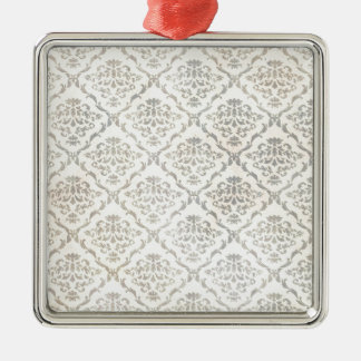 敏感な花いっぱいのダマスク織パターン メタルオーナメント
