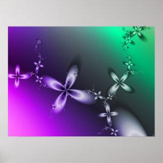 敏感な花のフラクタルポスター ポスター