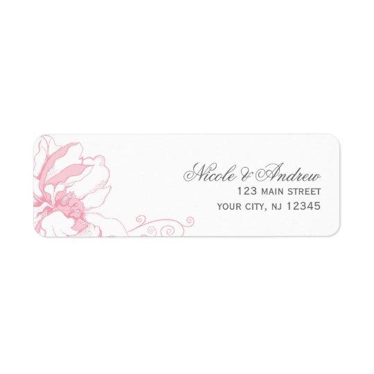 敏感な花の結婚式の宛名ラベル ラベル