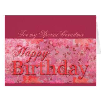 敏感な花パターン祖母の誕生日XLカード カード