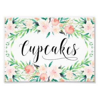 敏感な花束のカップケーキのプリント フォトプリント