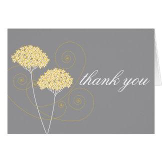 敏感な花柄はメッセージカード感謝していしています ノートカード