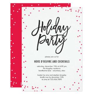 敏感休日のパーティの招待状を振りかけます 12.7 X 17.8 インビテーションカード