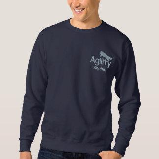 敏捷のシェットランド・シープドッグによって刺繍されるスエットシャツ 刺繍入りスウェットシャツ