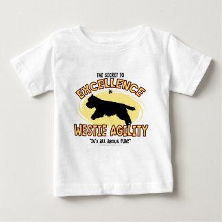 敏捷のWestieの秘密のベビーのTシャツ ベビーTシャツ