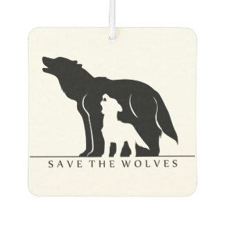 救って下さいオオカミ(白いver。)を カーエアーフレッシュナー