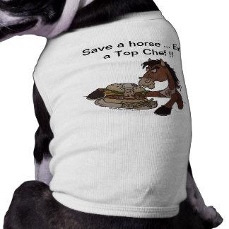 救って下さい馬を… シェフ- Med犬のセーター頂上食べて下さい ペット服