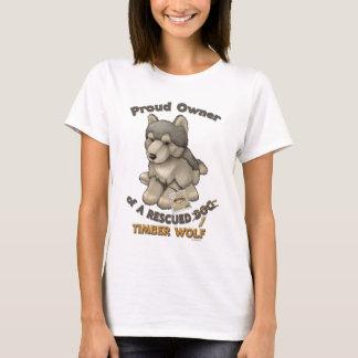 救助された材木オオカミ Tシャツ