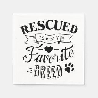 救助されるスローガンは私のお気に入りのな品種白のナプキンです スタンダードカクテルナプキン