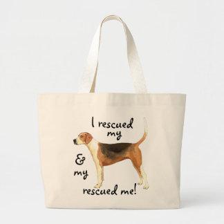 救助のアメリカFoxhound ラージトートバッグ
