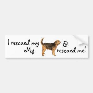 救助のカワウソ猟犬 バンパーステッカー